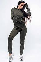Узкие повседневные брюки джеггинсы 42-52 размеры хаки