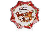 Тарелка новогодняя Санта, фарфоровая 25 см