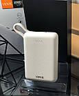 Power Bank швидкої зарядки 10 тис. мАч,Vidvie PB744,білий, фото 8