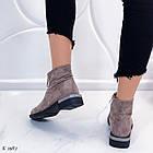 Женские демисезонные ботинки коричневого цвета из натуральной замши 36 39 40 ПОСЛЕДНИЕ РАЗМЕРЫ, фото 2