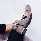 Женские демисезонные ботинки коричневого цвета из натуральной замши 36 39 40 ПОСЛЕДНИЕ РАЗМЕРЫ, фото 3
