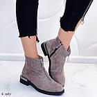 Женские демисезонные ботинки коричневого цвета из натуральной замши 36 39 40 ПОСЛЕДНИЕ РАЗМЕРЫ, фото 5