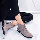 Женские демисезонные ботинки коричневого цвета из натуральной замши 36 39 40 ПОСЛЕДНИЕ РАЗМЕРЫ, фото 7