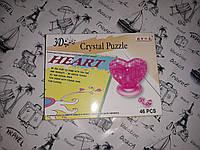 """Пазлы 3D кристальные пазлы """"Сердце"""", 46 деталей"""