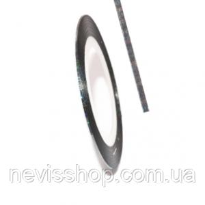 Стрічка глянсова silver 2 мм