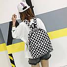 Рюкзак с накладным карманом в шахматную клетку., фото 2