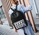 Рюкзак с накладным карманом в шахматную клетку., фото 3
