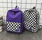 Рюкзак с накладным карманом в шахматную клетку., фото 4