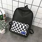 Рюкзак с накладным карманом в шахматную клетку., фото 6