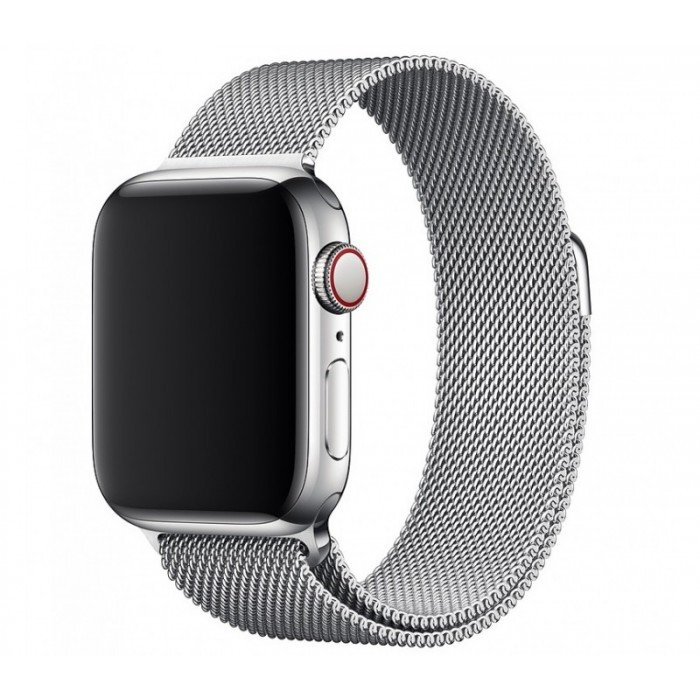 Ремешок  Milanese Loop Band for Apple Watch 42 mm Silver