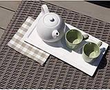 Стол садовый уличный Allibert California Coffee Table Cappuccino ( капучино ) из искусственного ротанга, фото 7