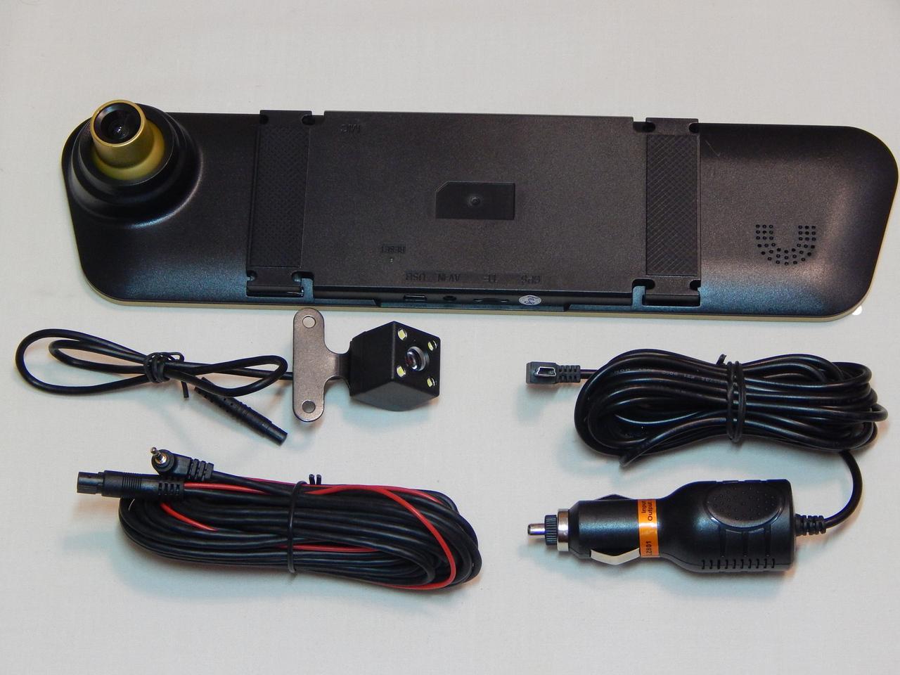Дзеркало-відеореєстратор ZIRY 4.3 TFT подвійна камера + картка пам'яті 16 Gb