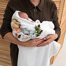 Крижмо для хрещення Янгол мікрофібра, фото 2