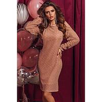 Вечернее платье женское с напылением 77737, фото 1