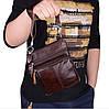 Мужская сумка из натуральной кожи Westal. Часы в подарок!, фото 8