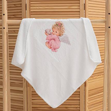 Крижмо для хрещення дівчинки Янгол мікрофібра, фото 2