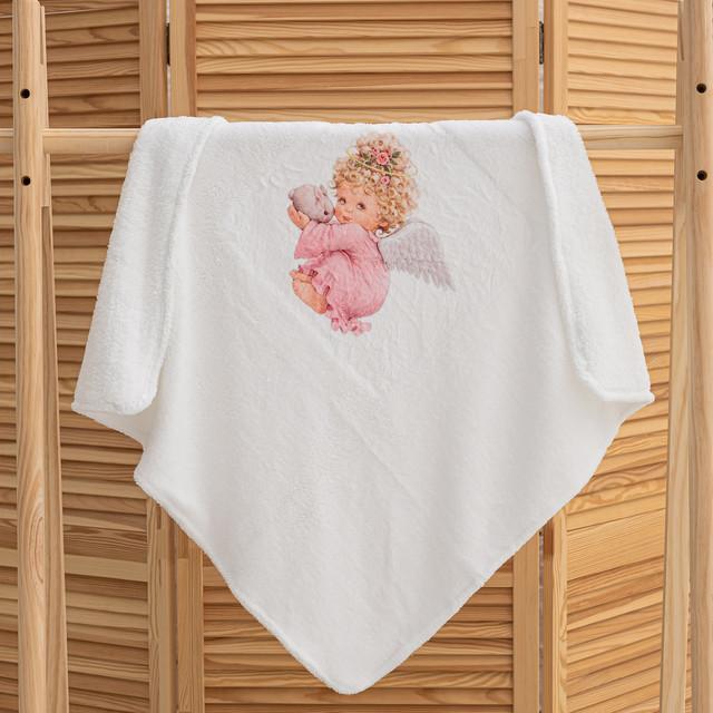 Крижмо для хрещення дівчинки Ангел мікрофібра