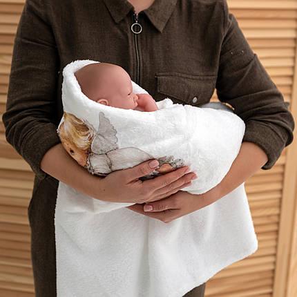 Крижма на хрещення Янголятко мікрофібра, фото 2