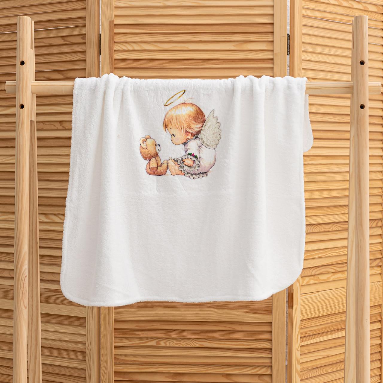 Крижма на хрещення Янголятко мікрофібра