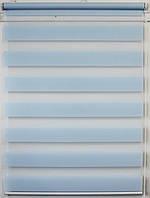 Готовые рулонные шторы Ткань ВН-04 Голубой 1075*1300