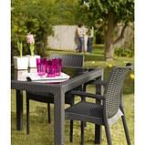 Стол садовый уличный Keter Sumatra Table из искусственного ротанга, фото 4