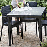 Стол садовый уличный Keter Sumatra Table из искусственного ротанга, фото 6