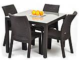 Стол садовый уличный Keter Sumatra Table из искусственного ротанга, фото 5