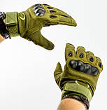 Тактические перчатки полнопалые, олива, фото 6