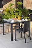 Стол садовый уличный Keter Sumatra Table из искусственного ротанга, фото 9