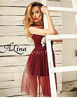 Пышное Платье куколка юбка евро сетка Алина, фото 1