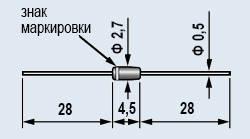КС218Ж Стабилитрон 18V. Стеклянный корпус КД-3