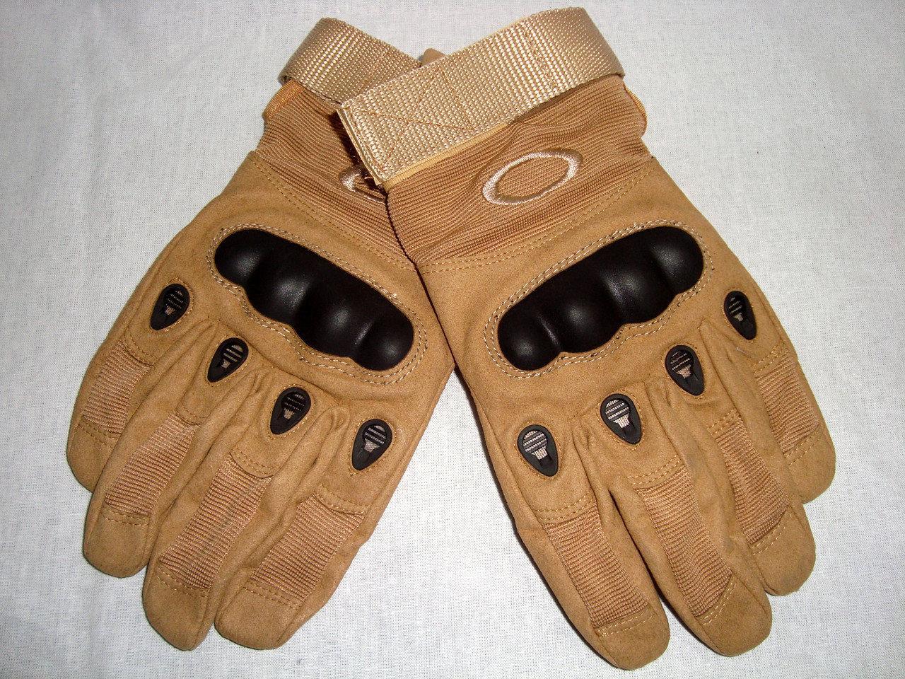 Тактические перчатки полнопалые, беж