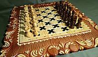 Деревянный набор шахматы-нарды ручной работы