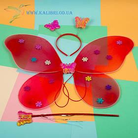 Карнавальные крылья бабочки красный