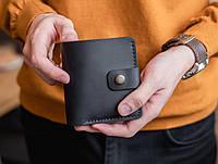 Компактный небольшой мужской кожаный кошелек ручной работы_модель Lana