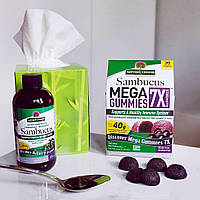 Nature's Answer, Жевательные мега конфеты с бузиной 7X, черная бузина, 30 растительных жевательных конфет