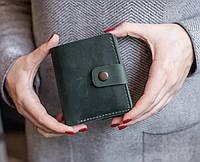 Компактный кожаный кошелек ручной работы из винтажной кожи_модель Lana