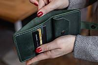 Карманный небольшой кожаный кошелек ручной работы_модель Lana
