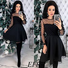 Вечірнє плаття / костюмна тканина, сітка / Україна 50-314