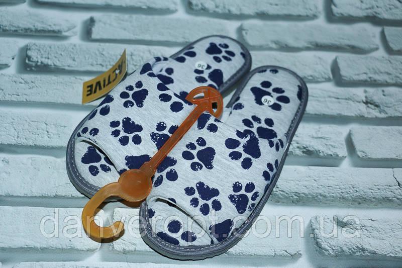 Тапочки домашние женские молодежные размер 36-41 купить оптом со склада 7км Одесса