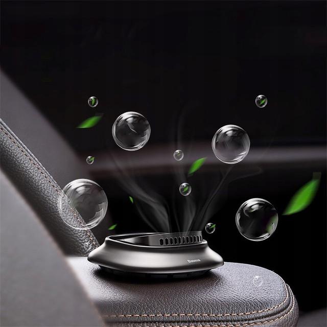 Автомобильный ароматизатор Baseus Little Volcano Vehicle-mounted Fragrance Черный (SUXUN-BH0G) / Серебристый (SUXUN-BP0S)
