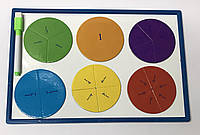 Доска детская магнитная (20,7*30,8см) + магнитны дроби, маркер