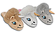 Плюшевые домашние тапочки игрушки женские Кигуруми Единорог Белые 91536-ТС  Family look, фото 3