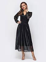 Вечернее платье миди черное 44 46 48