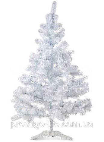 Новогодняя искусственная елка 1,3м, ПВХ, белая