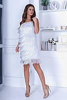 Платье женское бахрома FL/-1445 - Белый, фото 1
