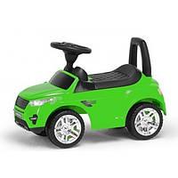Детская Машинка-Каталка Colorplast музыкальная  Зеленая 1373
