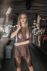 Коктейльное кружевное платье 5110