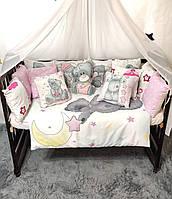 """Детское постельное белье в кроватку """"Тедди"""", комплект детского постельного белья"""