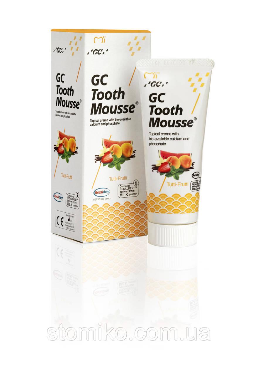 Tooth mousse Оригинал Мультифрукт , ( тусс мусс) - крем для реминерализации зубов, 1 тюбик 40г